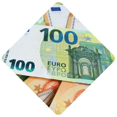 100€ und 50€ Scheine.